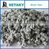Grey wood Cellulose Fiber for insulation mortar