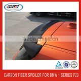 wholesale high quality 2013 carbon fiber 3D Style rear roof spoiler lip wing FOR BMW F20 1 series