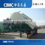 CIMC Carrier Used 3 Axle Cement Bulk Tanker Semi Trailer