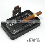Crystal glass ashtray Cigar Ashtray with cutter wholesale