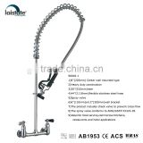 Commercial Kitchen 8''(203mm) Center Wall Mounted Pre-Rinse Unit Faucet (98002-1)