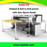 1.8METER R180 XENONS BRAND LED UV FLATBED&ROLL TO ROLL PRINTER WITH EPSON DX 5 HEADS GEN5 RICOH HEAD