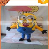 2015 best selling products adult minion mascot costume / despicable me minion mascot costume for advertising for advertising