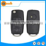 1K0 959 753 G 3 button flip key with 433MHZ flip remote control car remtoe key for volkswagen caddy Tiguan touareg golf 4 5 6