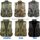 Multi-Pocket Summer Breathable Outdoor Camping Hunting Fishing Camouflage Military Tactical Airsoft Denim Photographer Mesh Vest