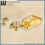 Multi-Purpose Brass And Stone Gold Finishing Bathroom Accessories Wall Mounted Soap Dish holder