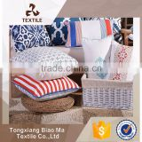 Tongxiang professional textile products manufacturer custom logo cushion cover fabric ready made cushion cover with zipper