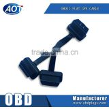 [Wholesale price] OBD OBD2 Female Extension Cable Flat cable obd cable flat with 16pin connector high quality
