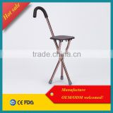 aluminum folding walker professional elderly walking stick , walking support for leg injuries