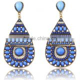 Gold plated summer new blue crystal Bohemia jewelry earring X88