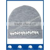 new product for 2014 Wholesale china manufacture OEM CUSTOM LOGO winter men and women gray acrylic beanie hat and cap