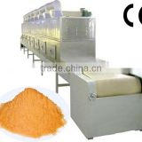 Industrial tunnel conveyor belt type microwave oven for drying and sterilizing egg yolk powder