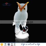 murano glass figurine christmas decoration owl; white hand blown owl christmas ornaments; murano glass owl statues