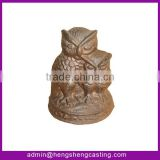 antique cast iron owl door stopper