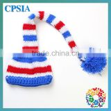 US 4th Of July Baby Boy Crochet Hat Red White Blue Knitting caps for newborn One size fit Most