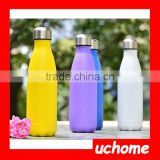 UCHOME 17 OZ/500 ML Food Grade Double Wall Vacuum Flask Insulated 18/8 Stainless Steel Swell Cola Shaped Water Bottle