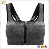 Ecaoch OEM Custom Gym Wear Racerback Sublimation Elastic Band Front Closure High Impact Woman Workout Yoga Sport Bra