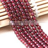 4-12mm round natural garnet bead stone strand wholesale natural stone beads for beaded jewelry