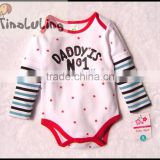TinaLuLing New Arrival Daddy's No.1 Long Sleeve baby winter rompers Soft cotton baby bodysuits