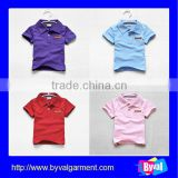 Famous brands design kids polo shirt apparel garment pocket kids polo shirt wholesale