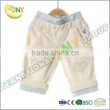 new style products 100%cotton baby pants wholesale fashion baby apparel