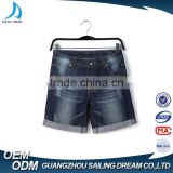 Hot ! latest design cotton frayed children jeans short pants hand brush stylish jeans pants for boys