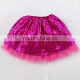 Latest skirt design picture for baby girl tutu skirt ruffle pink sequin and tulle causal wear shiny short dress in a good market