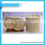 Chinese round bamboo dim sum steamer couscous steamer pot