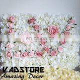 artificial white dense hydrangea pink rose flower wall love wedding beautiful flower wall backdrop stage wall decor beauty