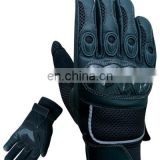 Short Cowhide leather motorbike Gloves