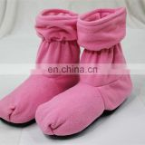 Women pink removable fluffy heated boots lavender scented