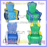 Colorful inflatable chair for throne