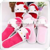 Hottest 2014 hello kitty plush slippers for children