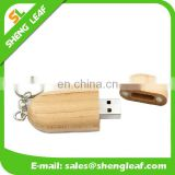 mini wholesale Wooden USB Flash with keyring