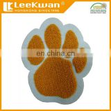 Chenille paw patch embroidered chenille applique, custom chenille patches for varsity letterman jacket