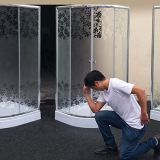 MISTY GLASS SHOWER ENCLOSURE