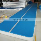 taekwondo used blue color 6m cheap mat tumbling inflatable mini air tumble track airfloor