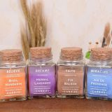 New Simple Style Scented Square Glass Jar Candles With Wood Cover