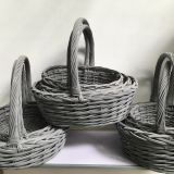 gray wicker gift basket with handle christmas gift basket empety for women
