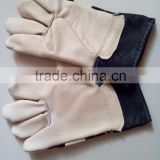short welding gloves hand protector wear resistant heat proof anti cut/ furniture leather working gloves