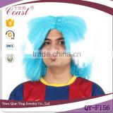 Greece flag streak hair color football sports fan wigs                                                                         Quality Choice