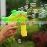amazing transparent plastic bubble blower gun -cartoon dolphin bubble gun