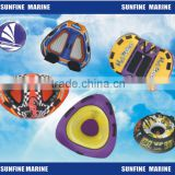 Inflatable Single/double triangle water ski/ water sports/inflatable water toy/ pool river/ towable tubs
