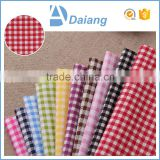 wholesale popular multicolor cheap checks custom printed 100% cotton muslin fabric for shirt in stock