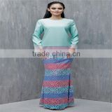 Wholesale muslim clothing islamic clothing for women baju kurung with lace
