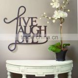 Metal Alphabet Wall Art Letter Pendants Live Laugh Love                                                                         Quality Choice