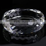 2015 newest popular white clear luxury crystal glass ashtray
