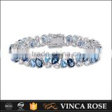 Hot China Product multi-blue stone white gold bracelet                                                                                                         Supplier's Choice