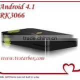 android tv box Rockchips RK3066 1.6GHz ARM Cortex Dual-core A9+ 1080P media+3D GPU android tv box 4.1