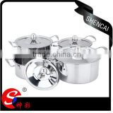 SS401 4pcs stainless steel cookware set of pots cooking pot stainless steel soup pot set